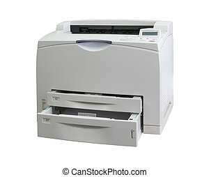 office printer - A3 office printer. Isolated on white with...