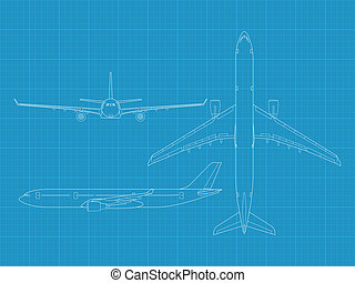 A330 - high detailed vector illustration of modern civil...