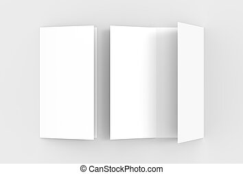 blank tri fold brochure