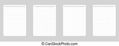 A4 notepad line paper . Notebook blank template