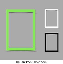 a4 paper frame vertical