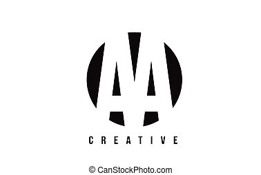 AA A White Letter Logo Design with Circle Background.