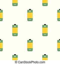 AA Alkaline battery pattern seamless for any design vector...
