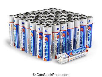 aa, batterie, set, formato