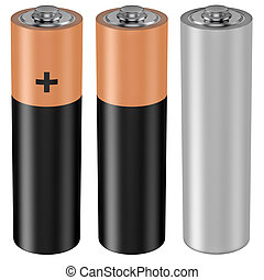 AA battery - 3D computer illustration on white background