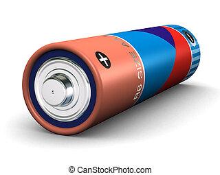 AA Battery - R6 size AA battery (3d render)