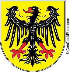 Aachen city coa - Various vector flags, state symbols,...