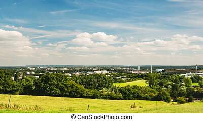 Aachen Panning Timelapse, Germany - Panoramic view from...