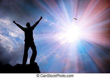 aanbidden, om te, god