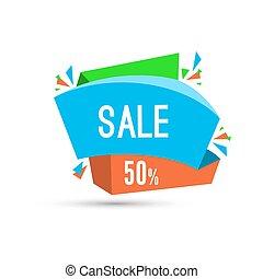 aanbod, verkoop, vrijstaand, korting, label, achtergrond, witte , bijzondere