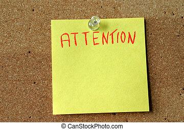 aandacht, post-it
