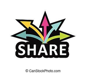 aandeel, concept, communicatie