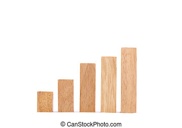 aandeel diagram, hout, spel, (jenga), markt