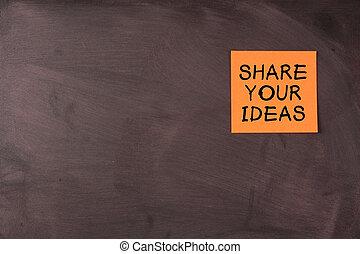 aandeel, jouw, ideeën