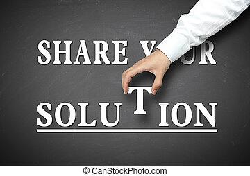 aandeel, jouw, oplossing