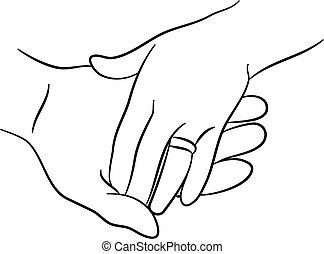 aandoenlijk, handen