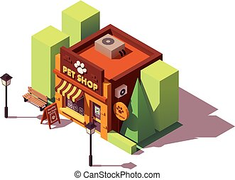 aanhalen, isometric, vector, winkel
