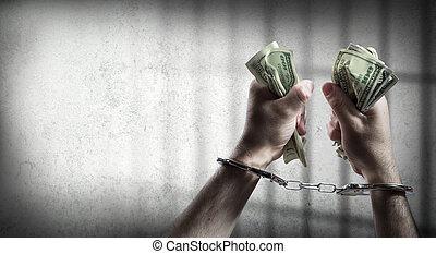 aanhouden, corruptie