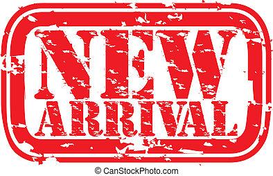 aankomst, grunge, ve, postzegel, rubber, nieuw