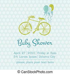 aankomst, jongen, tekst, of, douche, vector, plek, baby, jouw, kaart