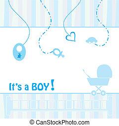 aankondiging, geboorte, kaart