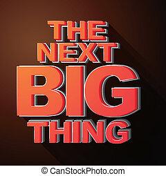 aankondiging, groot, spoedig, illustratie, volgende, ding,...