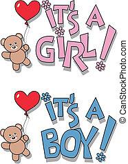 aankondiging, pasgeboren baby