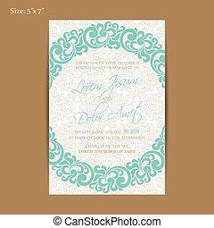 aankondiging, trouwfeest, of, kaart, uitnodiging