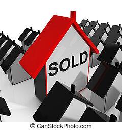 aankoop, verkoping, woning, sold, thuis, of, optredens