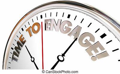 aannemen, toevoegen, klok, werk op elkaar in, communiceren, illustratie, tijd, 3d