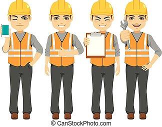 aannemer, arbeider, constructor