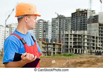 aannemer, bouwsector, inspecteur, gebied