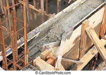 aannemer, thuis, cement