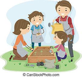 aanplant, gezin