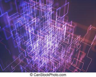 aansluitingen, abstract, geometrisch, achtergrond