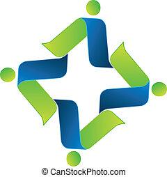aansluitingen, logo, zakenlui