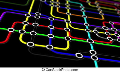 aansluitingen, netwerk, metro, mensen