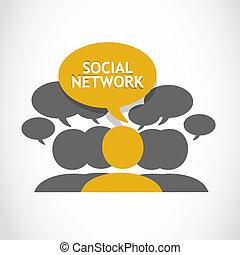 aansluitingen, netwerk, sociaal