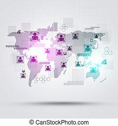aansluitingen, wereld, mensen