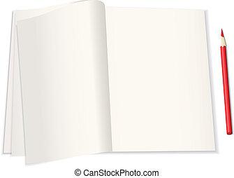 aantekenboekje, illustratie