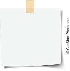 aantekening, achtergrond, witte , papier