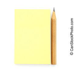 aantekening, deurpost het, gele, leeg