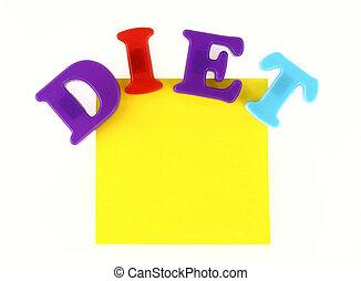 aantekening, dieet