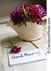 aantekening, goede morgen