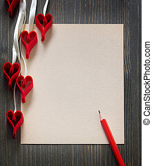 aantekening, hartjes, achtergrond