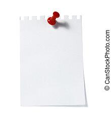 aantekening, herinnering, papier, kantoor, zakelijk