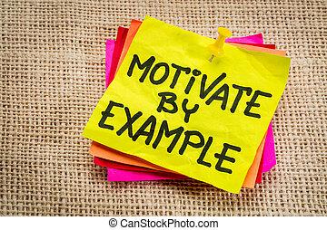 aantekening, motiveren, voorbeeld