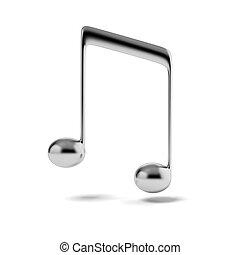aantekening, muziek, zilver