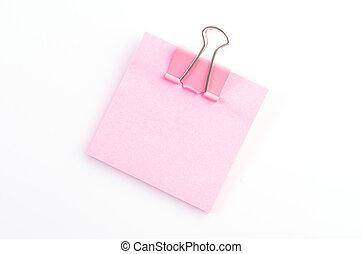 aantekening, paperclips