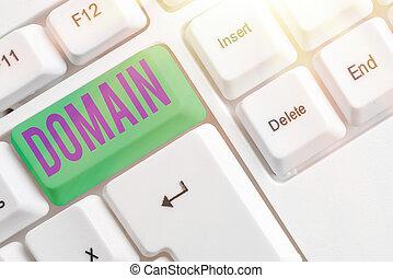 aantekening, showcasing, domain., gebied, foto, gebied, government., het tonen, meetlatje, zakelijk, schrijvende , of, bijzonder, gecontroleerd